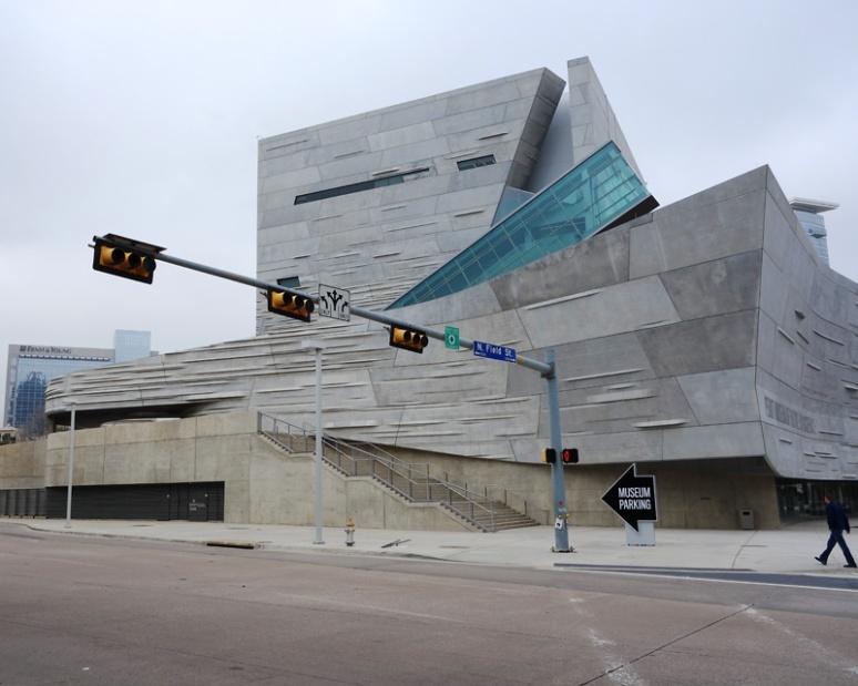 Perot Museum, south-facing facade