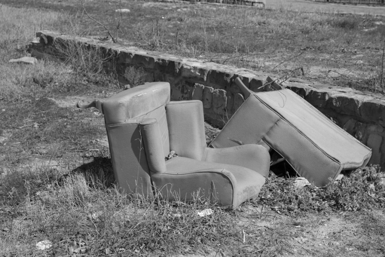 Wing chairs - grounded