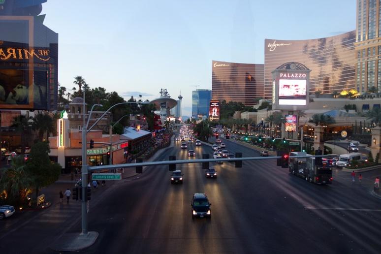 Las Vegas Boulevard at dusk