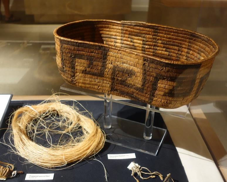 Basket and yucca fiber