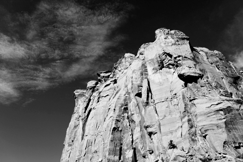 Cliff and clouds, Capitol Gorge