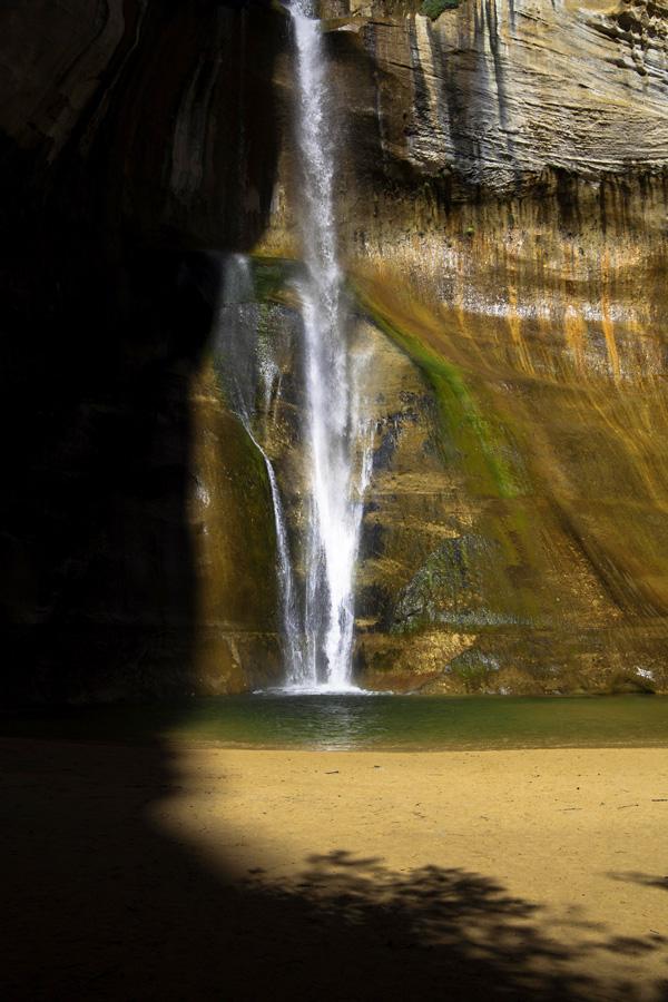 Creep of shadow: Lower Calf Creek Falls